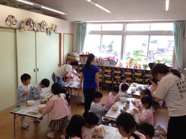 20140711さくら幼稚園絵付け